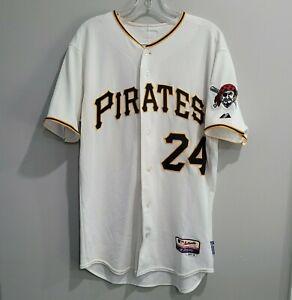 Majestic Authentic MLB Pittsburgh Pirates Pedro Alvarez 24 Jersey Mens 40 M Sewn