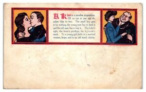 A-Kiss-Young-Man-Has-to-Steal-It-Old-Man-Has-to-Buy-It-Postcard