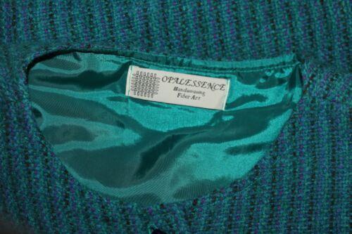 Sz to Fiber Woven Opalessence Hand Artist S Teal wear Jacket Art M Jeweled Blue FPaqfZEq