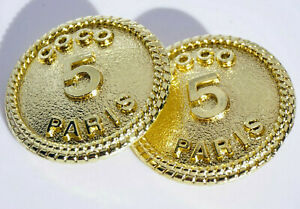 Two-Authentic-Chanel-Buttons-2-pieces-gold-toned-20-mm-0-8-inch