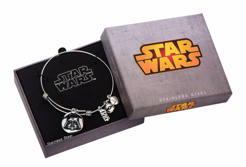 Star Wars Jewelry Darth Vader Stainless Steel Expandable Charm Bracelet SALES1SWMD