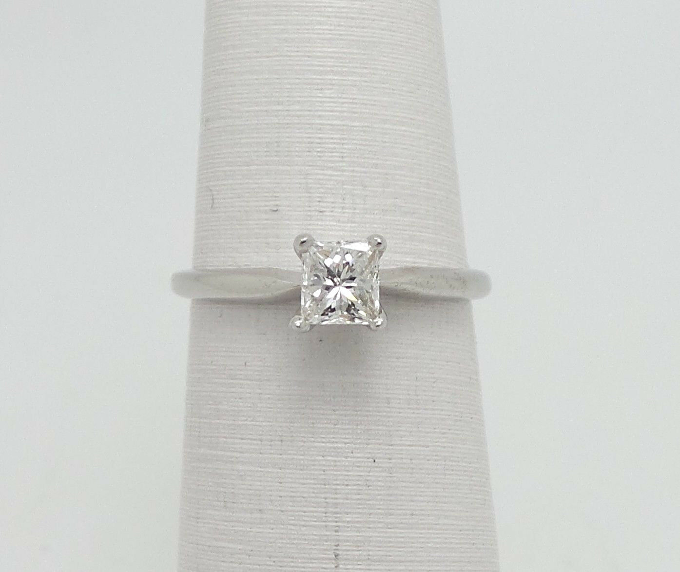 Zales 1 2CT Princess Diamond Solitaire Engagement Wedding Ring 14K White gold