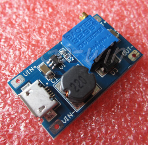 1pcs 2A booster board DC-DC step-up input 2//24V to 5//9//12 28V Replace XL6009
