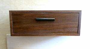 Details About Custom Walnut Maple Ebony Floating Nightstand Wall Shelf With Drawer Mid Century