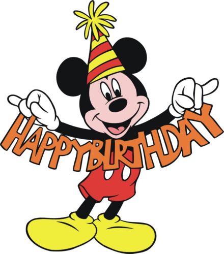 Mickey Mouse Birthday #68 T shirt Iron on Transfer 8x10-5x6-3x3 light fabric