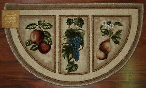extraordinary washable kitchen rugs | 19X32 Slice Wedge Kitchen Rug Mat Beige Tan Washable Mats ...