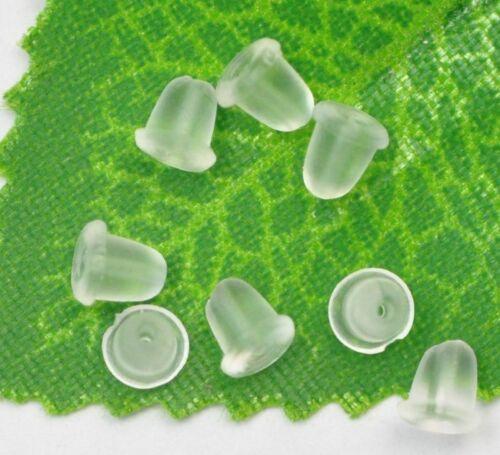 wholesale 1000PCS charm Findings Earrings Rubber Backs Stoppers Ear Nuts