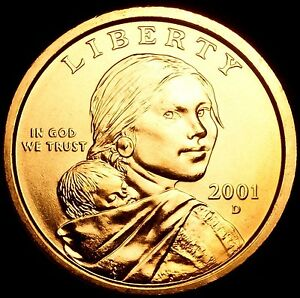 "2002 D Sacagawea Dollar US Mint Coin in /""Brilliant Uncirculated/"" Condition"