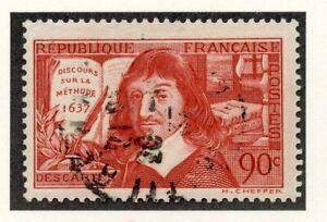 CoopéRative Stamp / Timbre De France Oblitere N° 341 Rene Descartes Haute Qualité