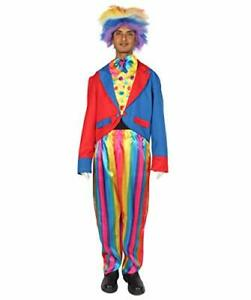 Adult-Mens-Scary-Devious-Evil-Jester-Clown-Dress-Up-Halloween-Costume-HC-473