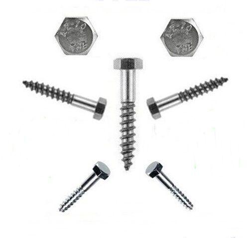 Hexagonal holzschrauben 5 mm DIN 571 5x25 à 5x70 Acier Inoxydable-professionnel-qualité