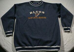 Vintage St. Louis Blues Sweatshirt NHL Hockey Shirt L