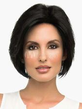 100% Echthaar Natürliche Kurz Schwarz Perücke Dame Menschliches Haar Perücken