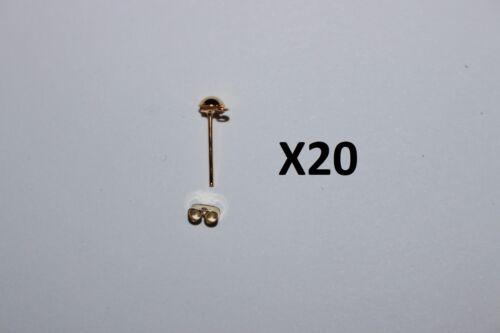 Lot de 20,50,100 .. création boucle d/'oreille clous+fermoirs métalliques dorés