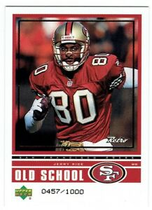 Jerry-Rice-amp-Terrell-Owens-1999-Upper-Deck-Retro-Old-School-New-School-ON12