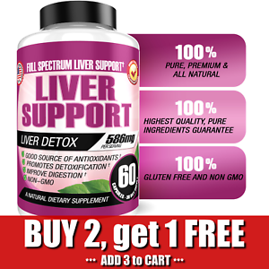 BEST Liver Cleanse Detox & Regenerator Supplement Support W/ Milk Thistle & Zinc