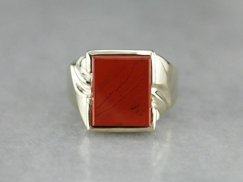 Bold Red Jasper Statement Ring