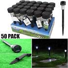 LOT 50 Black LED Solar Powered Outdoor Lawn Lights for Garden Path Landscape UB