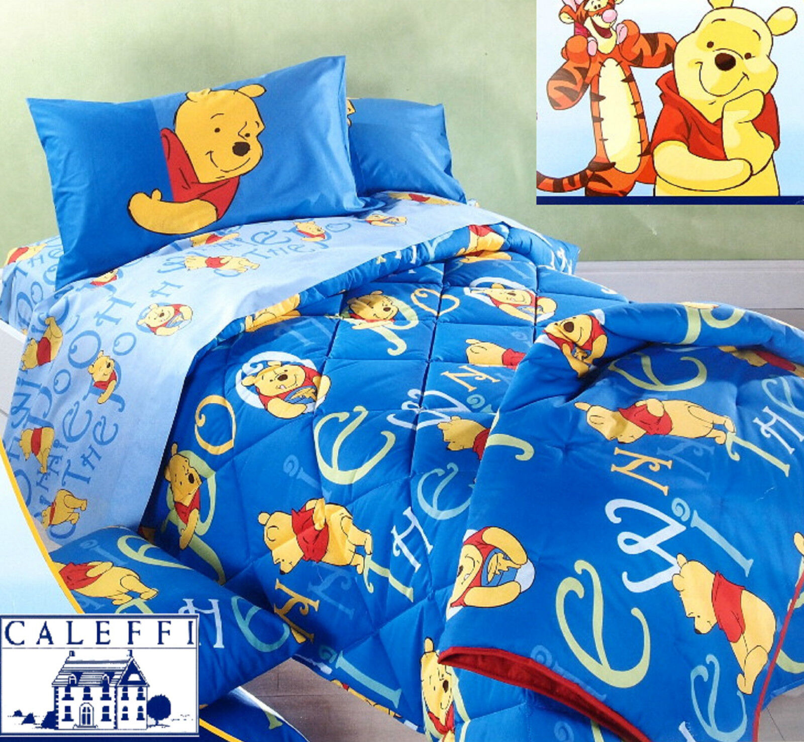 Copriletto Winnie The Pooh Caleffi.Details About Quilt Winter Disney Caleffi Pooh Delicious Single And Small Double