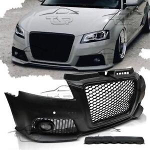front bumper for audi a3 8p 08 12 pdc body kit rs3 look. Black Bedroom Furniture Sets. Home Design Ideas