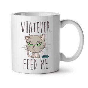 Feed Me Cat NEW White Tea Coffee Mug 11 oz | Wellcoda
