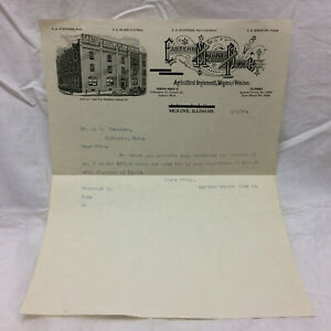 Vintage-1908-Correspondence-Letter-Eastern-Moline-Plow-Company-Moline-IL