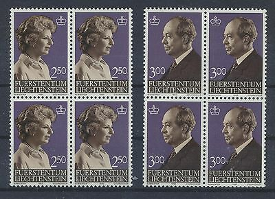Viererblöcke ................................. Europa Briefmarken Streng Liechtenstein 828/29 Postfrisch