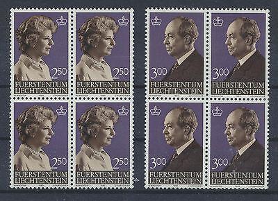 Liechtenstein Viererblöcke ................................. Streng Liechtenstein 828/29 Postfrisch
