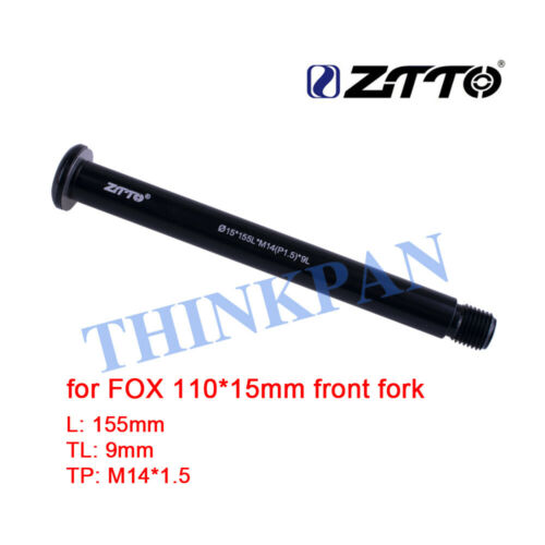 New Front Thru-Axle 15x110mm Bicycle Part For Fox Fork 155mm M14*1.5 TL:9mm