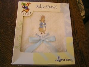 peter rabbit shawl blanket