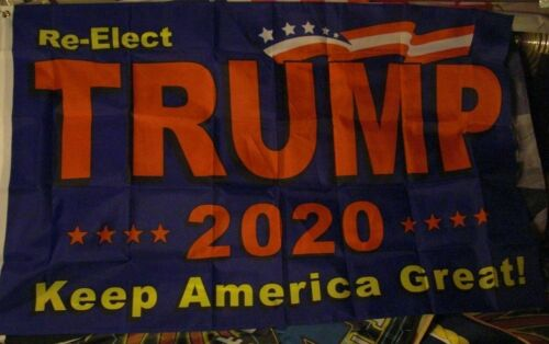 """USA Seller Re-Elect Trump 2020 3/' x 5/' Quality Fly Flag /""""Keep America Great/"""""""
