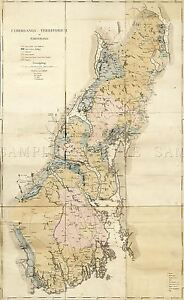 MAP-ANTIQUE-1838-DAHL-CHRISTIANIA-OSLO-NORWAY-LARGE-REPLICA-POSTER-PRINT-PAM0301