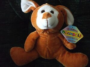 """8"""" Kellytoy brown bunny/rabbit with white face"""