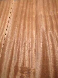 3x Mahogany Board Wood Sapeli Noble Wood 91x12/13cm 22mm