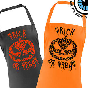 Adults-Ghost-Pumpkin-Halloween-Apron-Fun-Trick-Treat-Gift-Scary-Cafe-Party-Cook