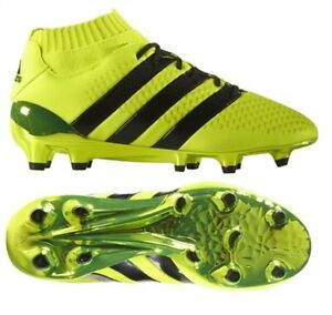 reputable site 4fa40 0bf59 Details about Adidas Ace 16.1 Primeknit FG/AG Boys Kids Sock Football Boots  YELLOW/BLACK
