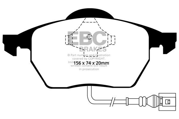 EBC Ultimax Front Brake Pads Seat Leon Mk1 1M 1.8 Turbo Cupra 180HP 99   05