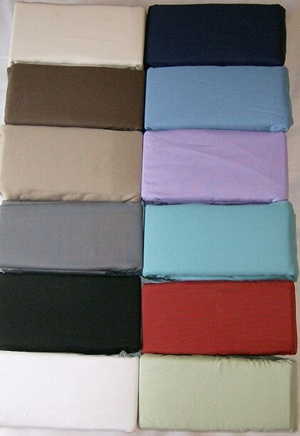 WATERBED SHEET SET 12 FarbeS SUPER SINGLE  QUEEN KING  made in usa