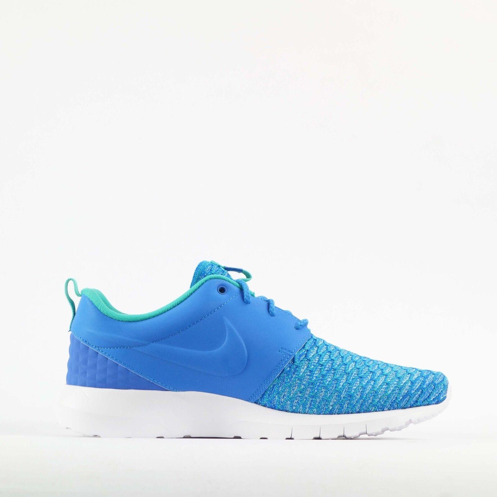 6f63bda07e097 Nike Roshe NM Flyknit PRM Rosherun Blue Mens Running Shoes 746825-400 UK  7.5