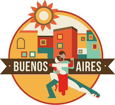 "Buenos Aires World City Travel Car Bumper Sticker Decal 5"" x 4"""