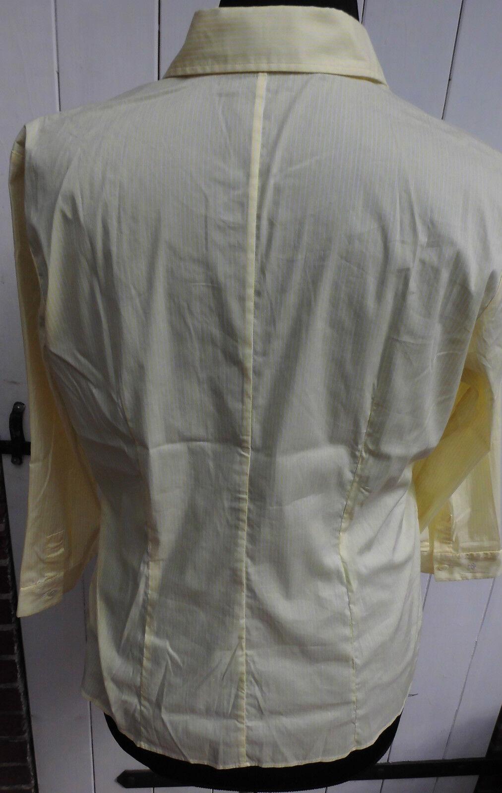Camicia - 3 4 Maniche Lunghe Lunghe Lunghe Van Laack MIS. 44-modello Pixies-Giallo-Bianco-Merce Nuova 920646