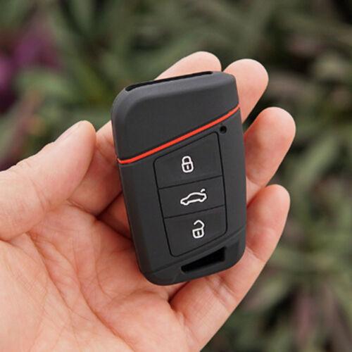 Black Silicone key fob skin case for Volkswagen VW Magotan Passat B8 Skoda A7