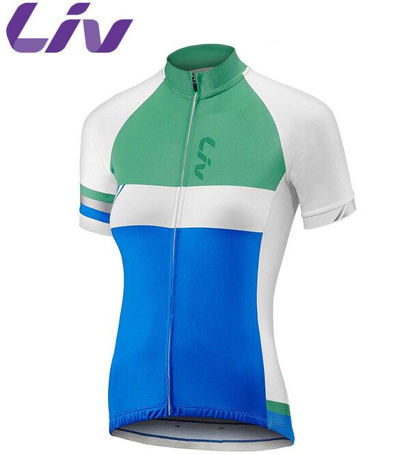 Liv Capitana Wouomo Cycling Jersey  blu verde  Dimensiones S M L