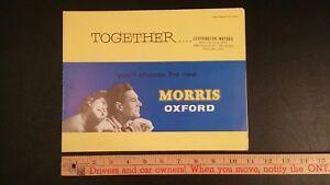 1959-MORRIS-Oxford-Color-Folder-Brochure-Excellent-Condition-UK