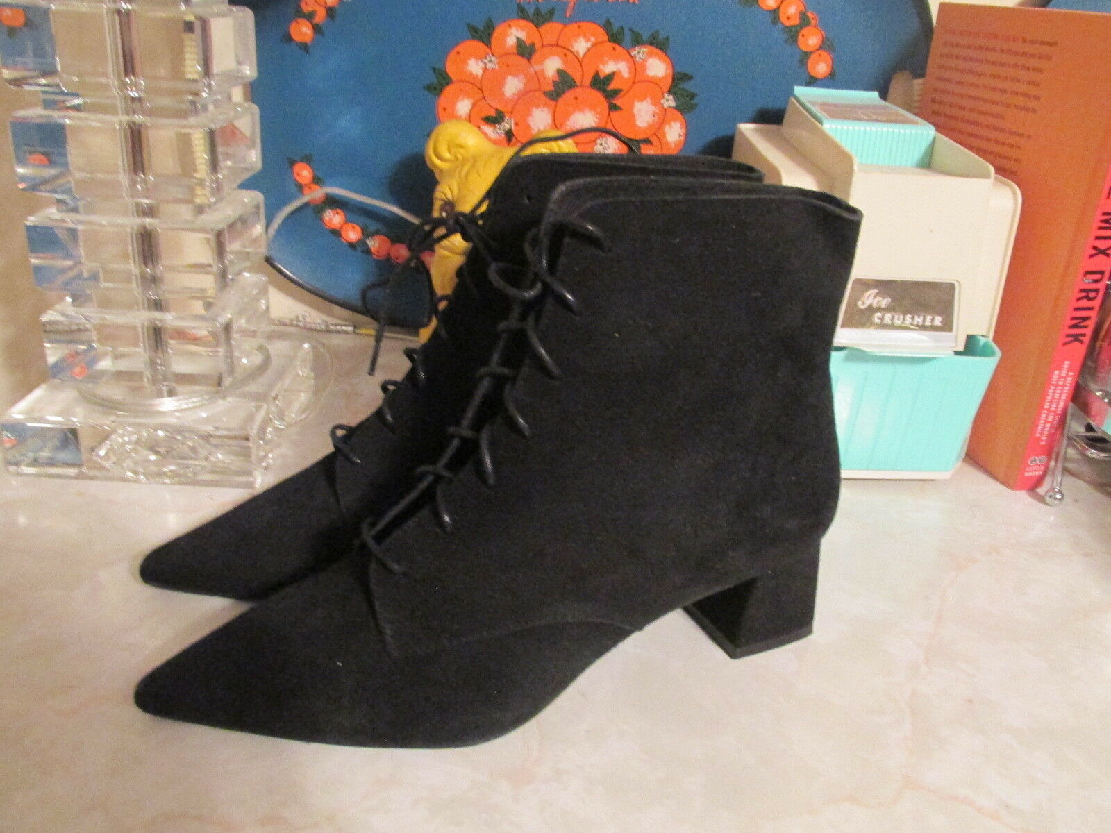 Free People Up Suede  Dacile Lace Up People Boot  NWOB MSRP:  128 EU 36 262256