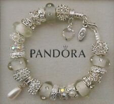 Authentic Pandora Bracelet Genuine Swarovoski Pearl~Sparkle~Bling~Pandora box