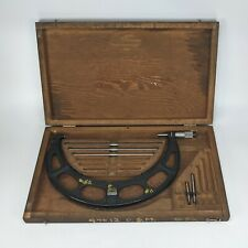 Starrett 224 9 12 Interchangeable Anvil Micrometer With Case Amp Standards Vintage