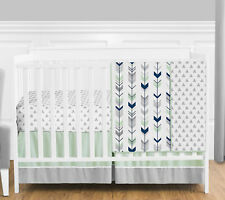 Baby Boy Crib Bedding Navy Blue/&Gray Forest Woodland Trail 3Pc by Peanut Shell