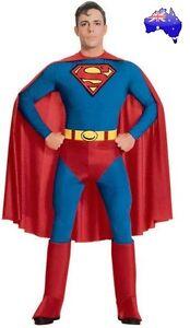 Mens-Adult-Superman-Super-Hero-Man-of-Steel-Halloween-Fancy-Dress-Party-Costume