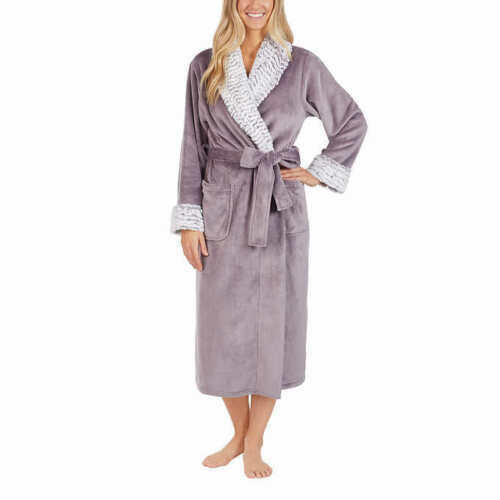 bb12711d78 Womens Carole Hochman Plum Plush Wrap Robe W pockets Very Soft Size L Large  for sale online